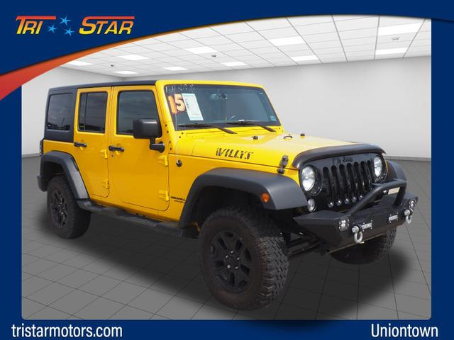 Pre-Owned 2015 Jeep Wrangler Unlimited Willys Wheeler Edition